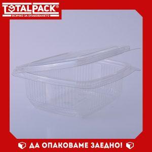 кутия за храна с прикачен капак 250мл