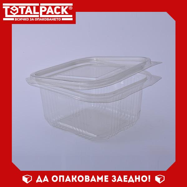 кутия за храна с прикачен капак 375мл