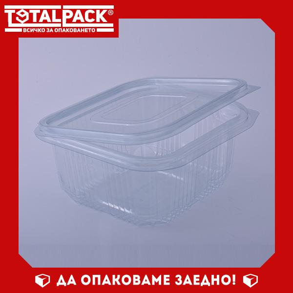 кутия за храна с прикачен капак 500мл