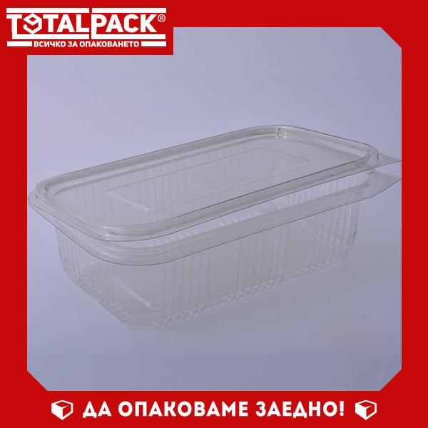 кутия за храна с прикачен капак 750мл