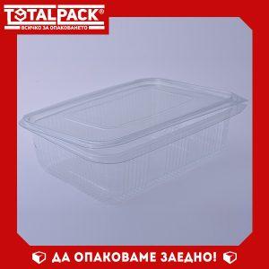 кутия за храна с прикачен капак 1500мл
