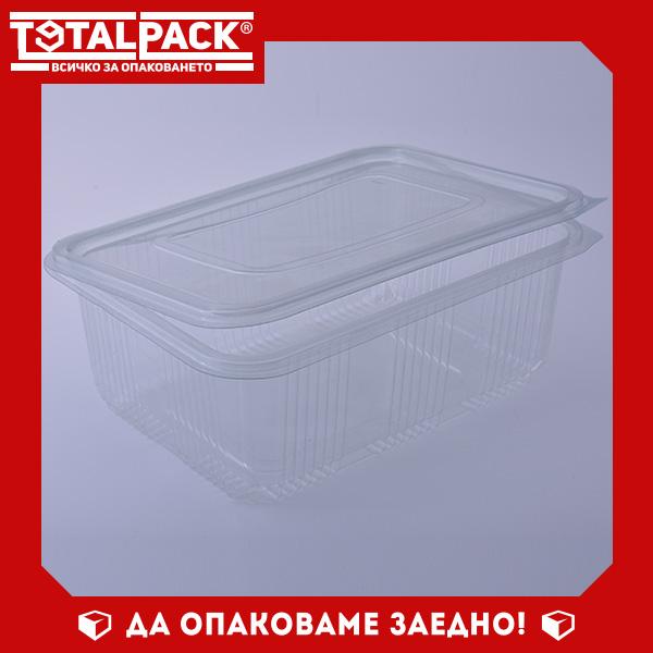кутия за храна с прикачен капак 2000мл