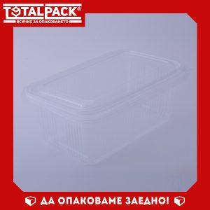 Термо кутия с прикачен капак 1000мл