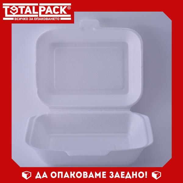 Стиропорена кутия за храна средна