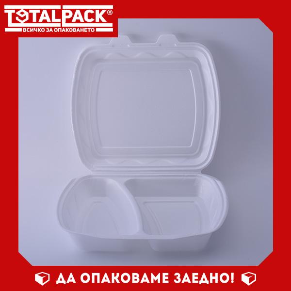 Стиропорена кутия с две отделения