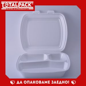 Стиропорена кутия с три отделения
