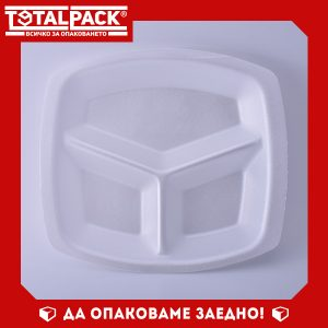 Стиропорена тарелка BAVEF 3 отделения