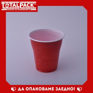 Пластмасова Чаша вендинг червена 160мл